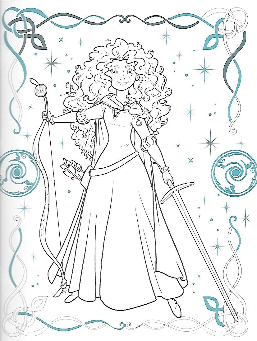 Merida The Disney Princess From Brave Cinderella Coloring Pages Disney Coloring Pages Disney Princess Coloring Pages [ 1096 x 827 Pixel ]