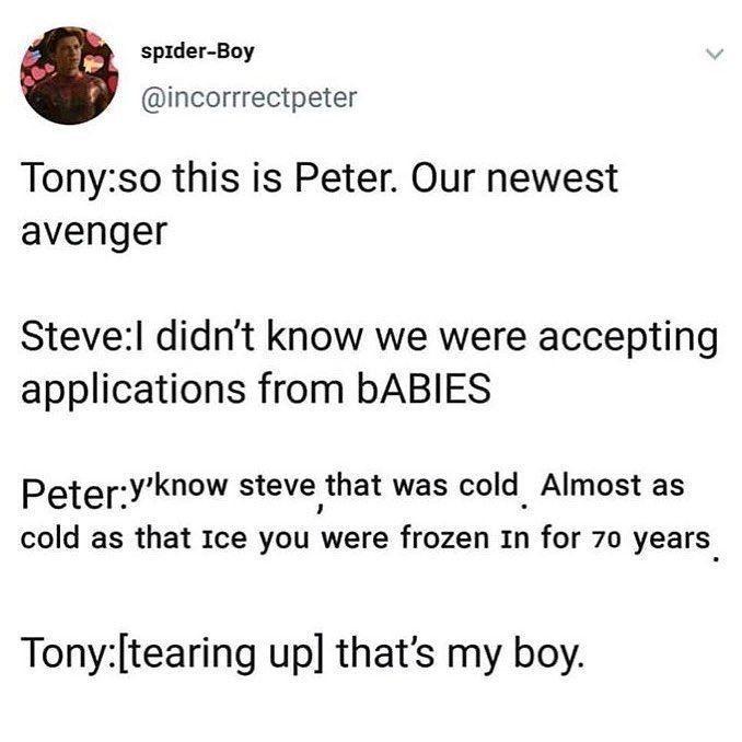IronDad & Spiderson ~And Stuff~ - Infinity War??    Spider-man