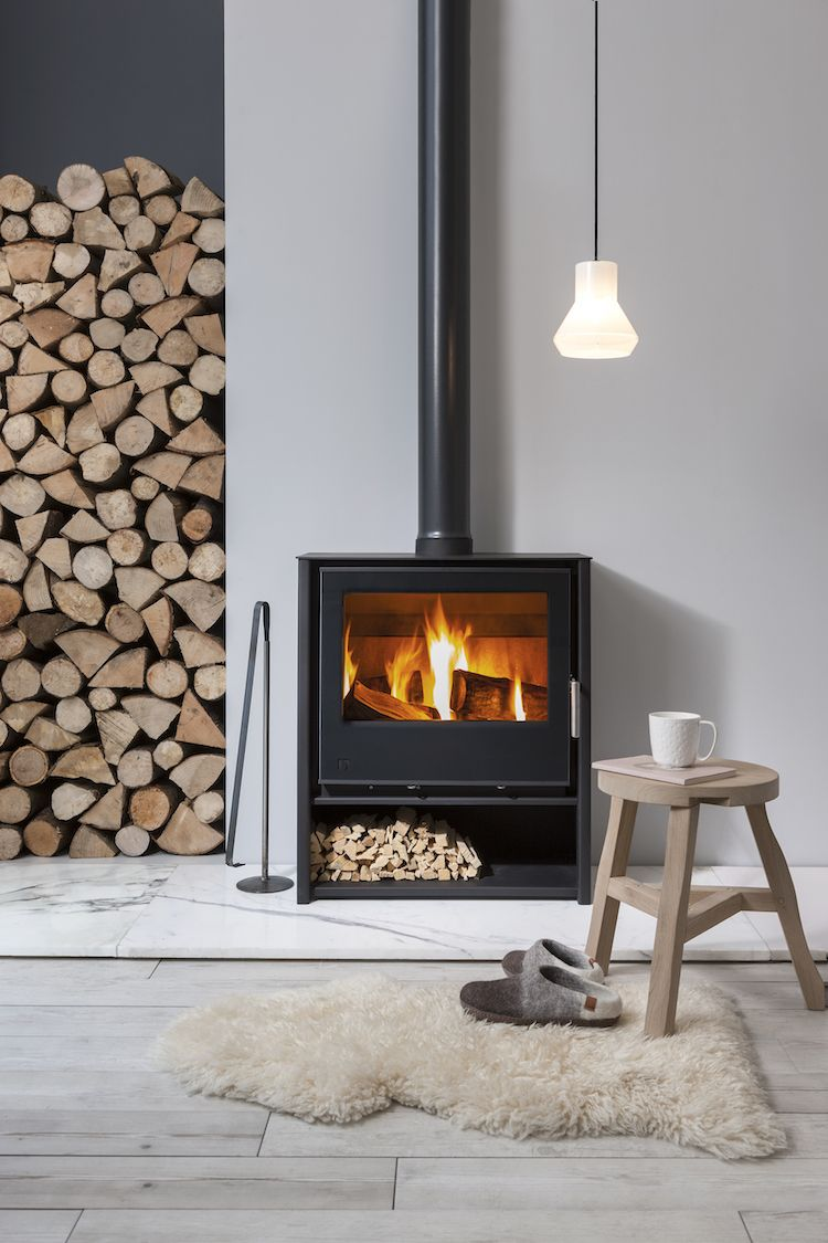 Scandinavian Fireplace Ideas And Inspiration Hunker Contemporary Wood Burning Stoves Freestanding Fireplace Wood Burning Stoves Living Room