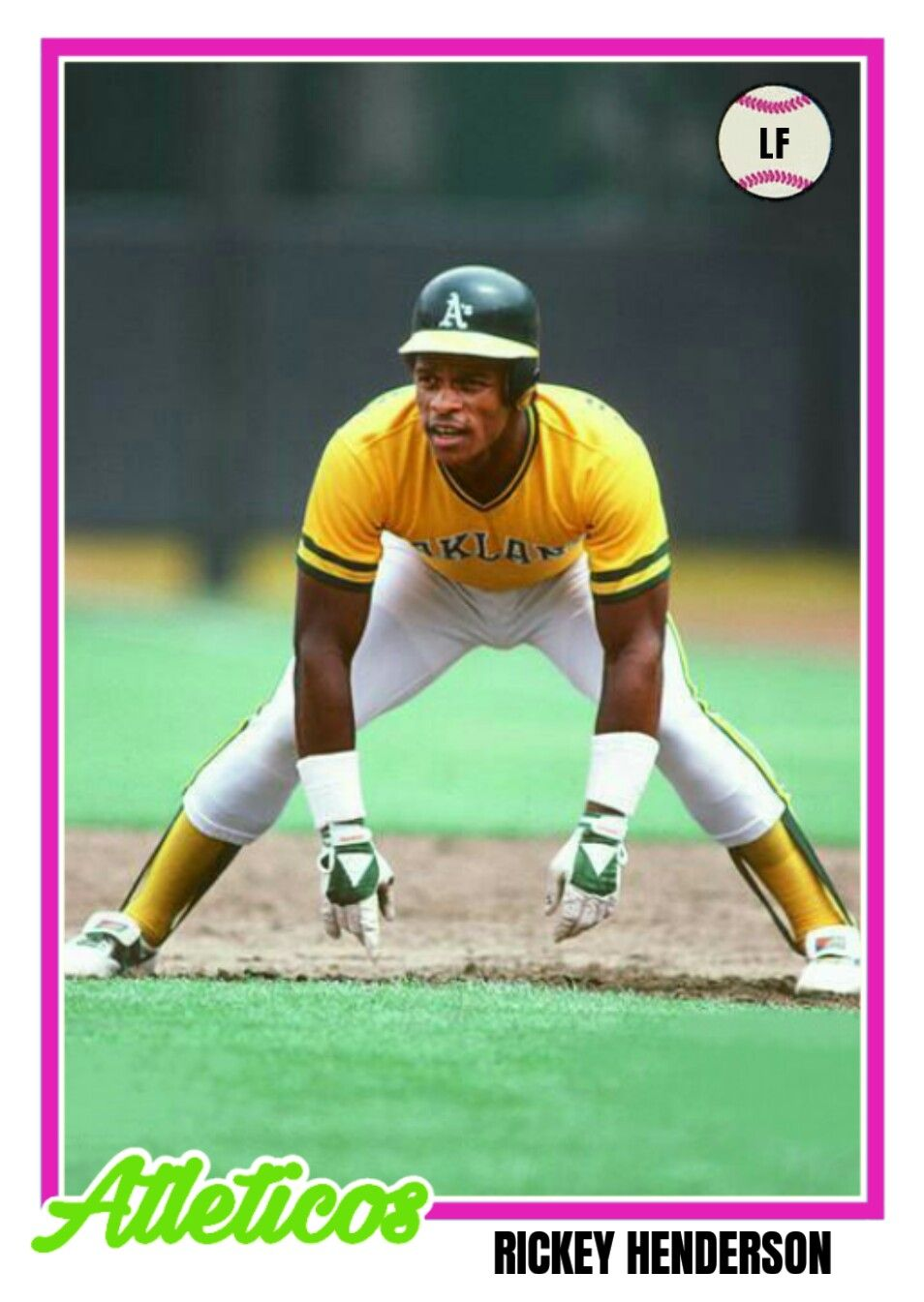 rickey henderson baseball card topps