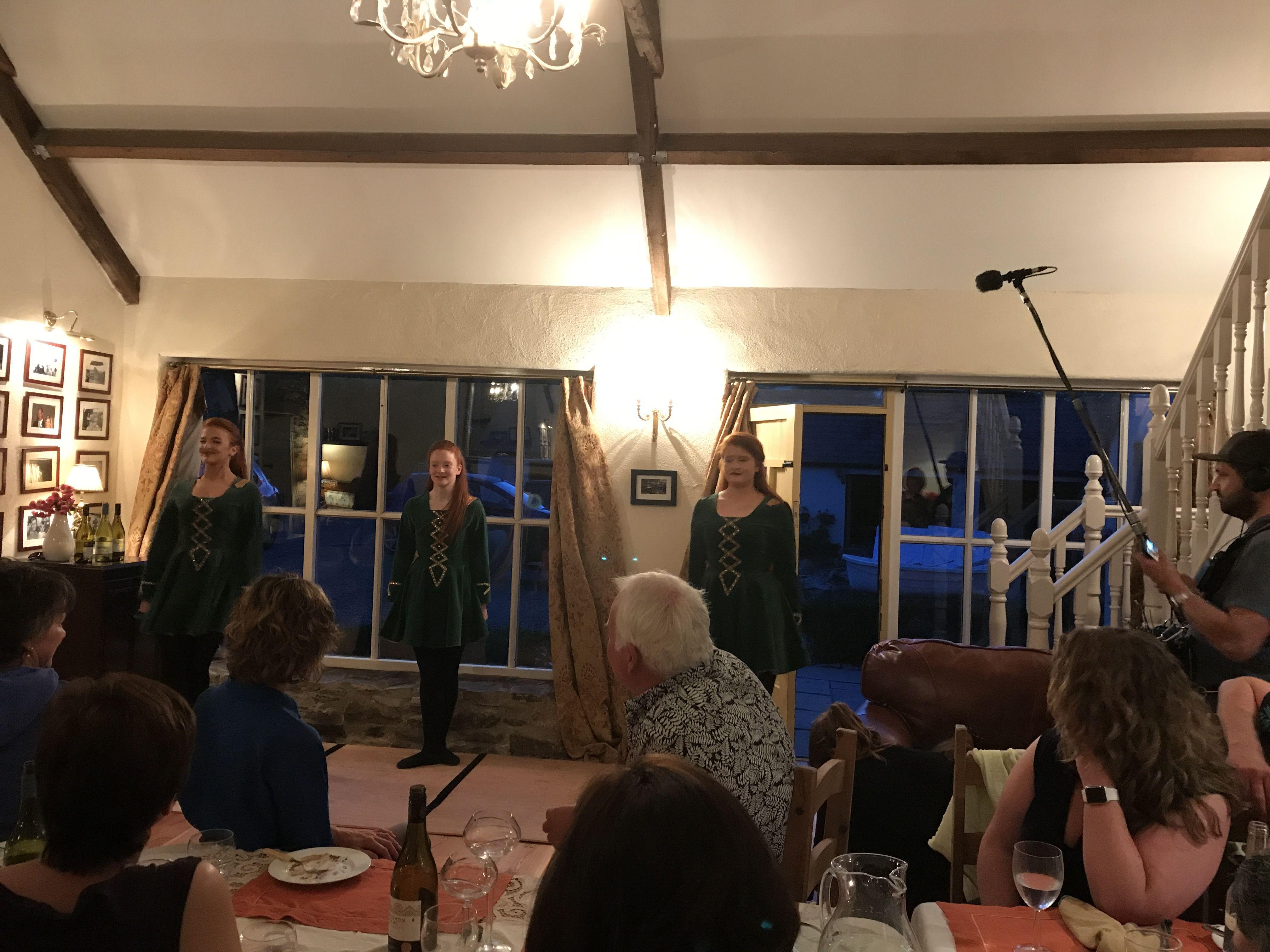 Enjoying Irish dancing after dinner