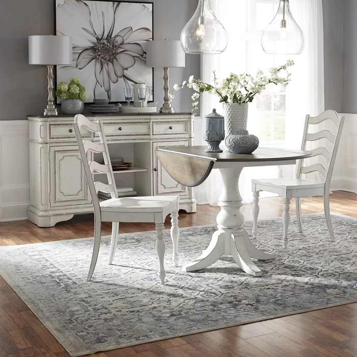 Tiphaine Drop Leaf Dining Table Liberty Furniture Wood Dining Room Set Drop Leaf Table