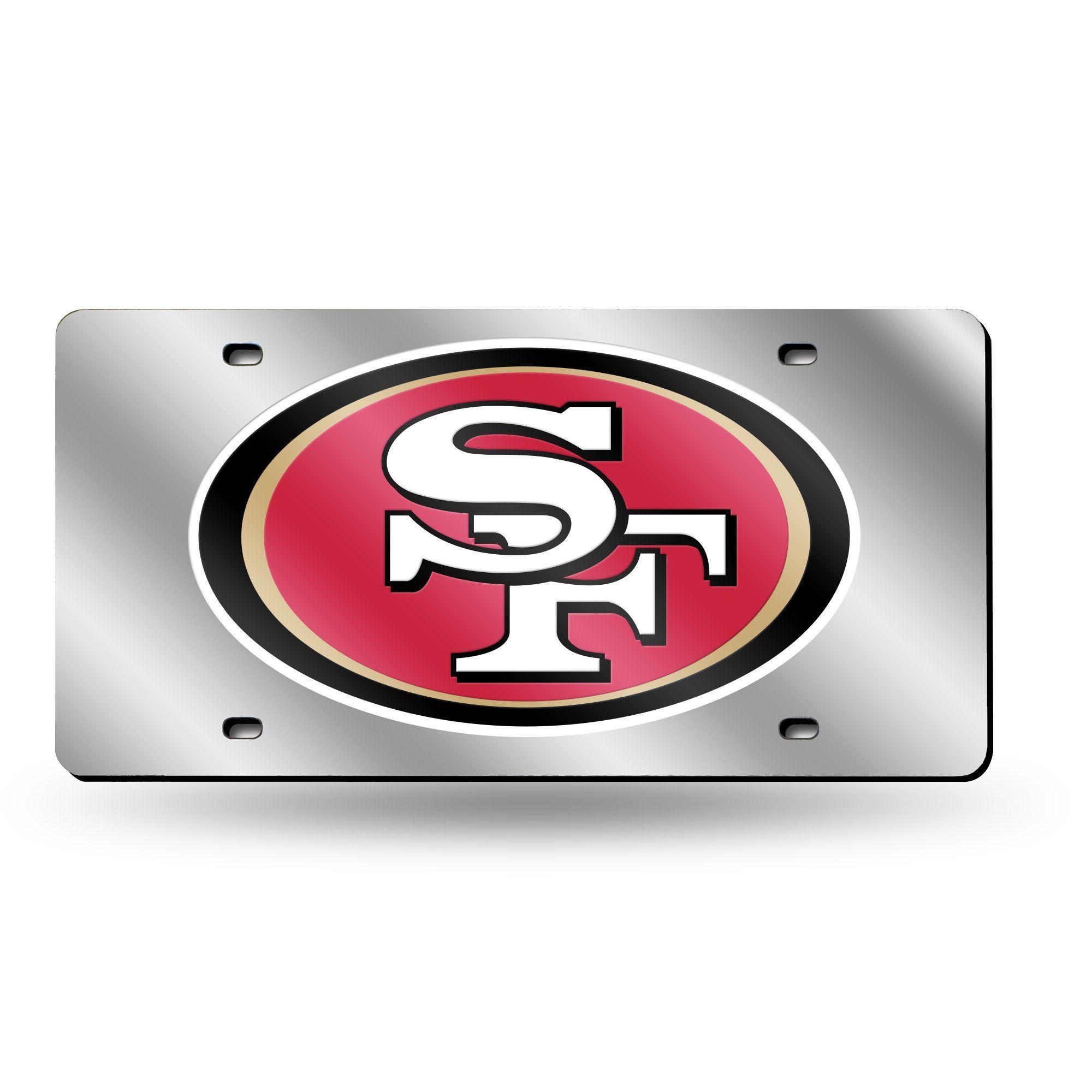 NFL San Francisco 49ers Laser License Plate Tag - Silver   Nfl san ...