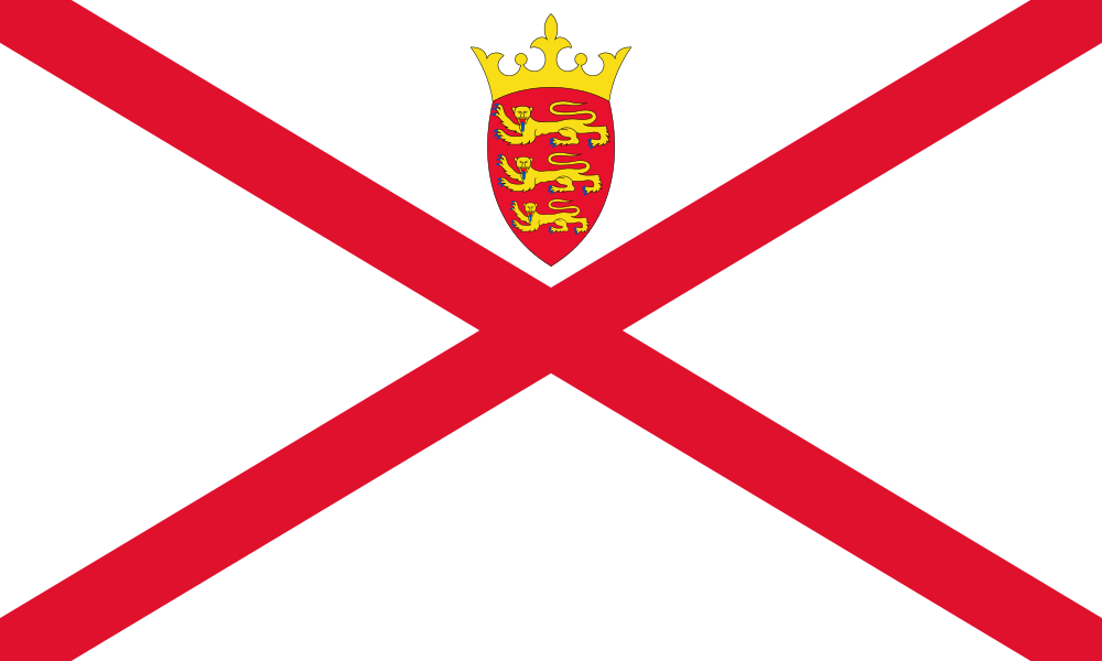 Flag Of Jersey Jersey Channel Islands Bailiwick Of Jersey Jersey Flag