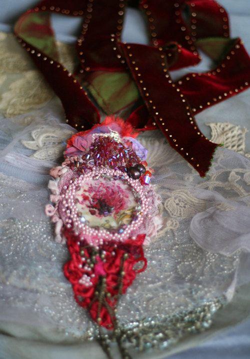 baroque pendantromantic pendant necklace wearable by FleurBonheur, $162.00