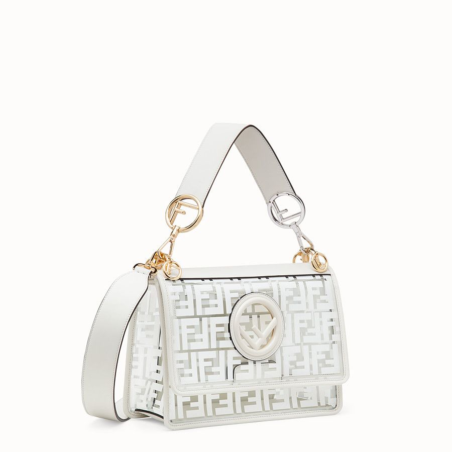 3b50d2007073 Fendi - Kan I F Transparent white canvas bag ( 2