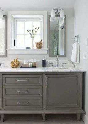 Paint Colors Are Always The Number One Questions You Guys Seems To Have And I Think That S Becaus Grey Bathroom Cabinets Grey Bathroom Vanity Bathroom Styling
