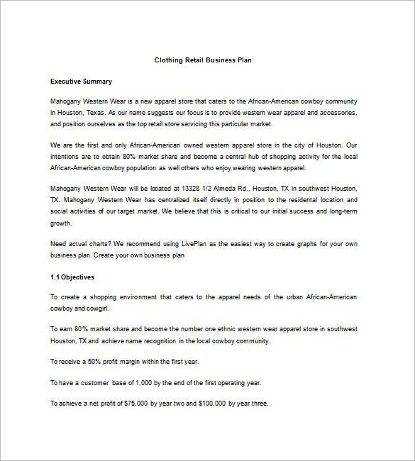 Retail Business Plan Template Luxury Retail Business Plan Template 13 Free Word Retail Business Plan Template Retail Business Plan Business Proposal Template