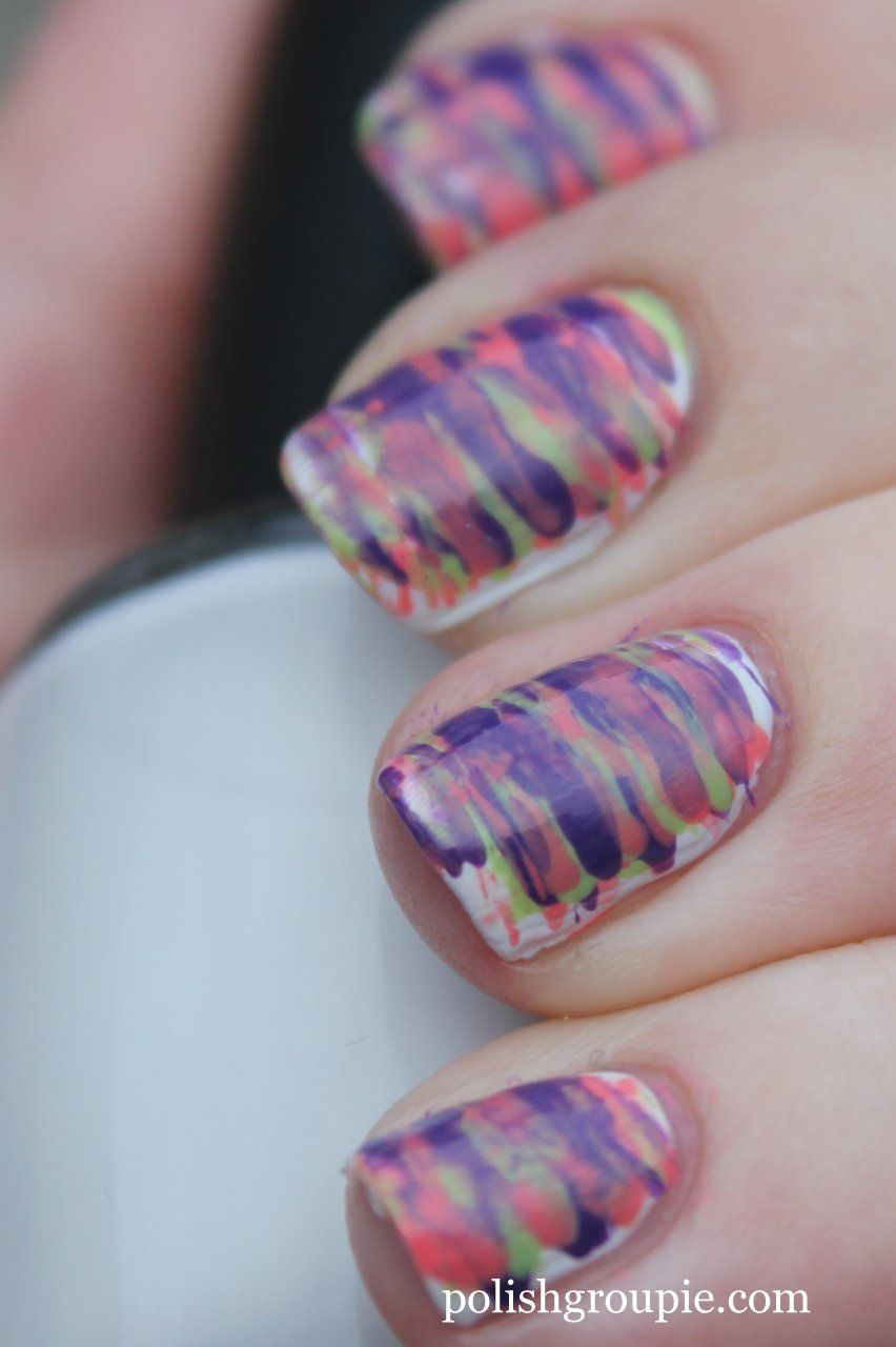smudged lines | Nails | Pinterest | Fan brush
