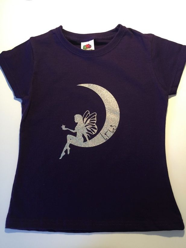 76bf3d72c Tutorial on HTV t-shirts made with Silhouette Cameo. The moon fairy ...