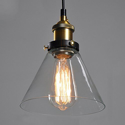 Verre vintage industrielle retro cordon de montage ceiling pendant clear glass shade ceiling vintage retro chandelier fitting pendant lamp shade screw lamp base just lamp shade excluding light bulb mozeypictures Image collections