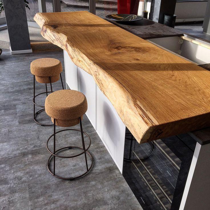 Küchentresen Bartresen Küche Holz Holztresen Holzbrett Theke Holztheke Arbeits - Handwerk #holzideen