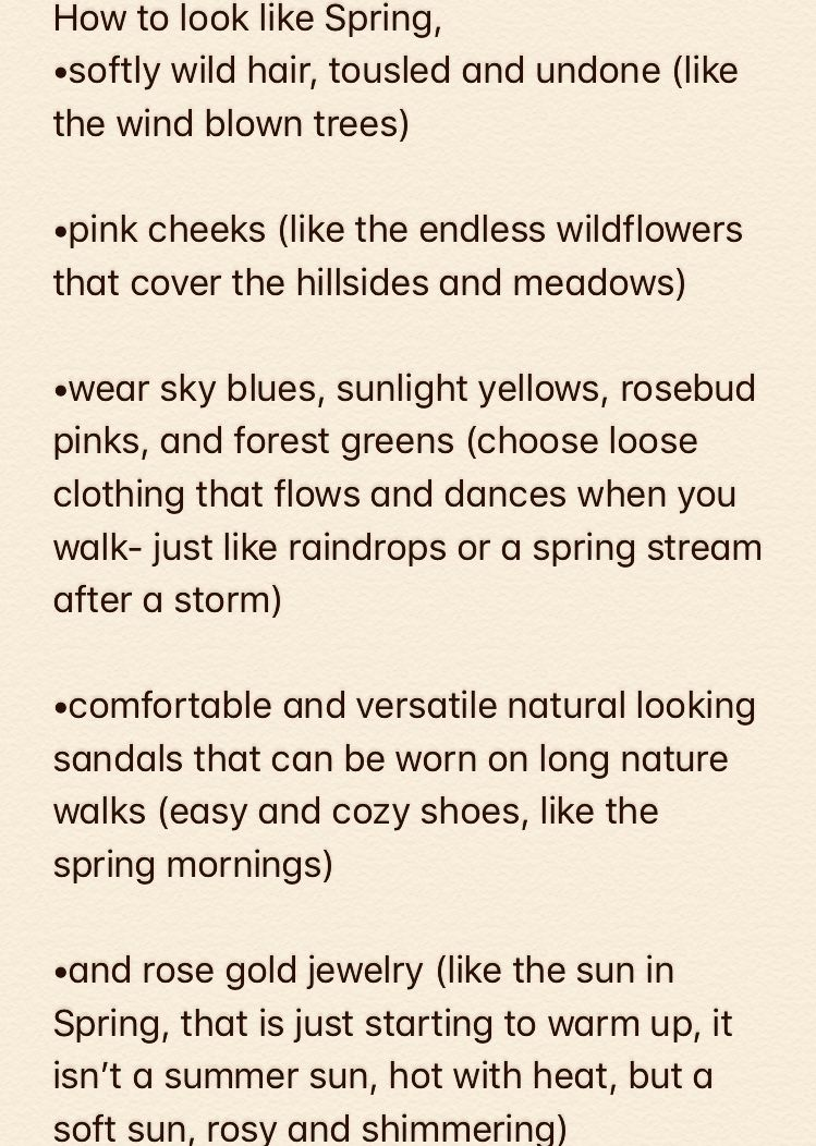 How To Look Like Spring Aesthetic Spring List About Seasons