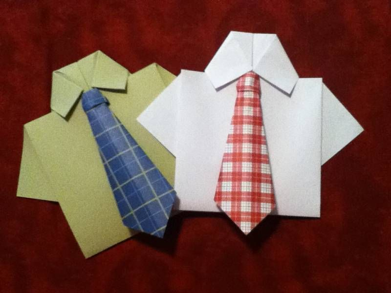 card paper craft ideas origami necktie and shirt card by sweetbloominscraps 3505