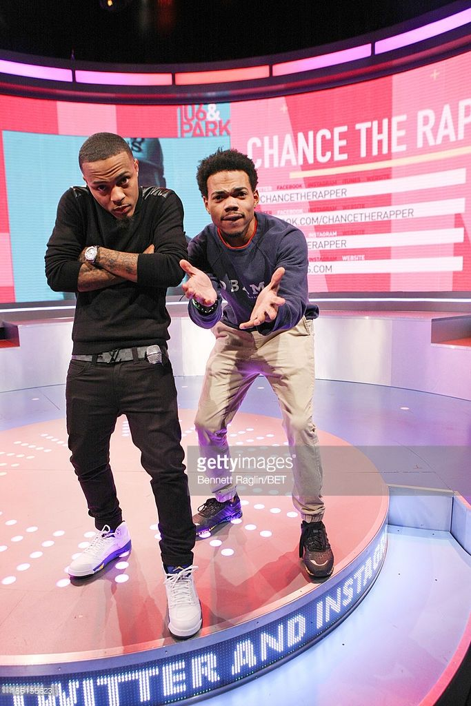 106   Park host Bow Wow and recording artist Chance the Rapper attend 106    Park at 106   Park studio on October 28 587dca3ac