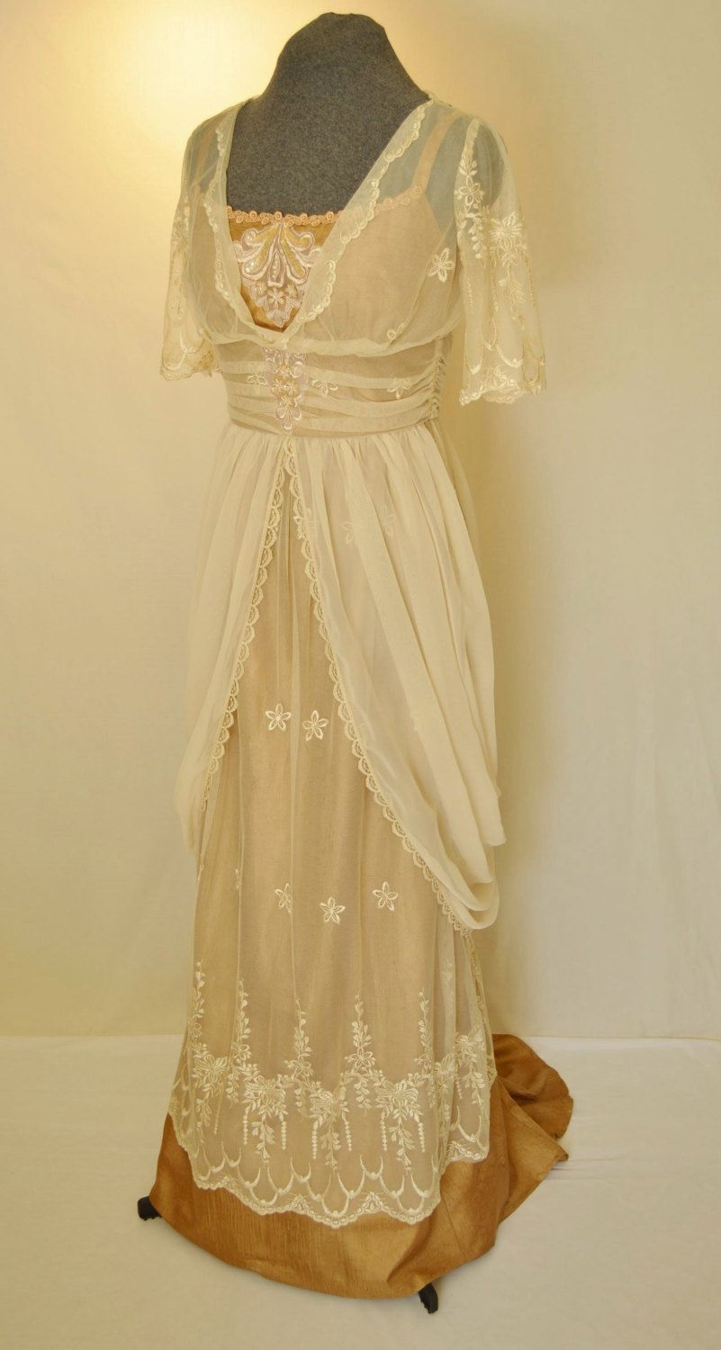 Reserved for Dominique...Edwardian Lace Wedding Gown, Wedding Dress ...