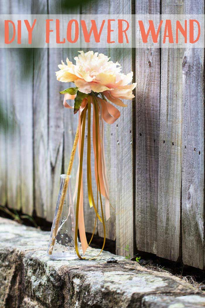 04ca17fc4e6cd6 34 Flowers You Can Make For Your Wedding. How to Make a Flower Girl Wand