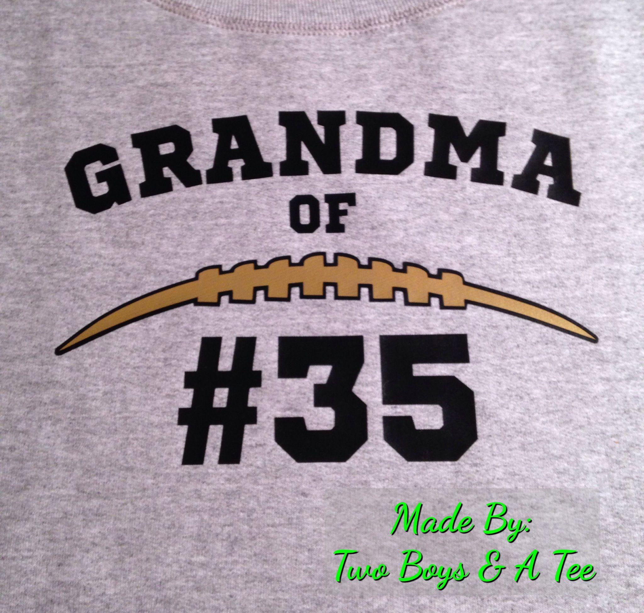 For a football grandma Football mom shirts, Football
