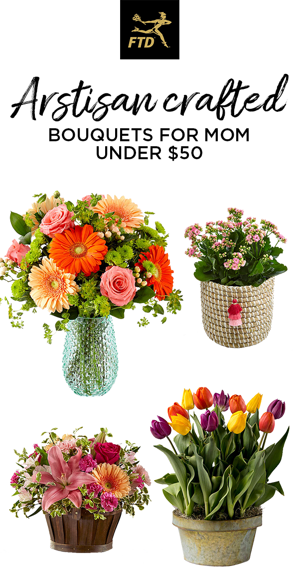 Celebrate mom with a blossoming bouquet of brightly