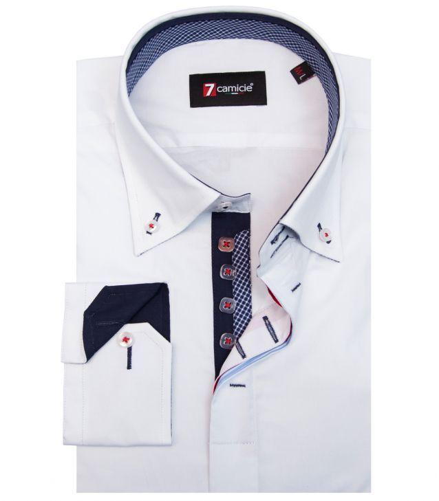 3ea0ee48b0 Camisas Roma Popelín stetch Blanco