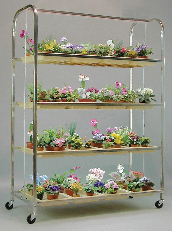 G4A Lite Cart 4 Ft 4 Shelf Plant Stand Grow lights for