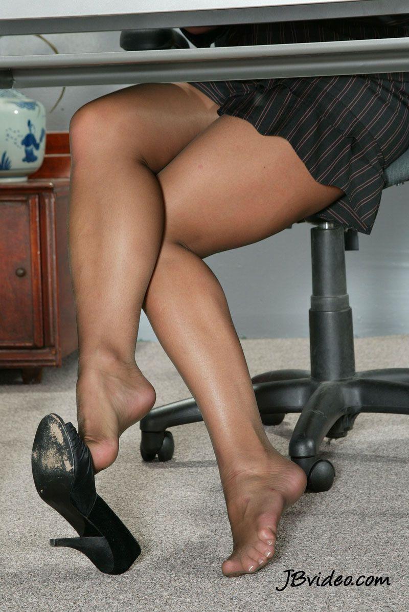 Dangling Shoe And Pantyhose Feet