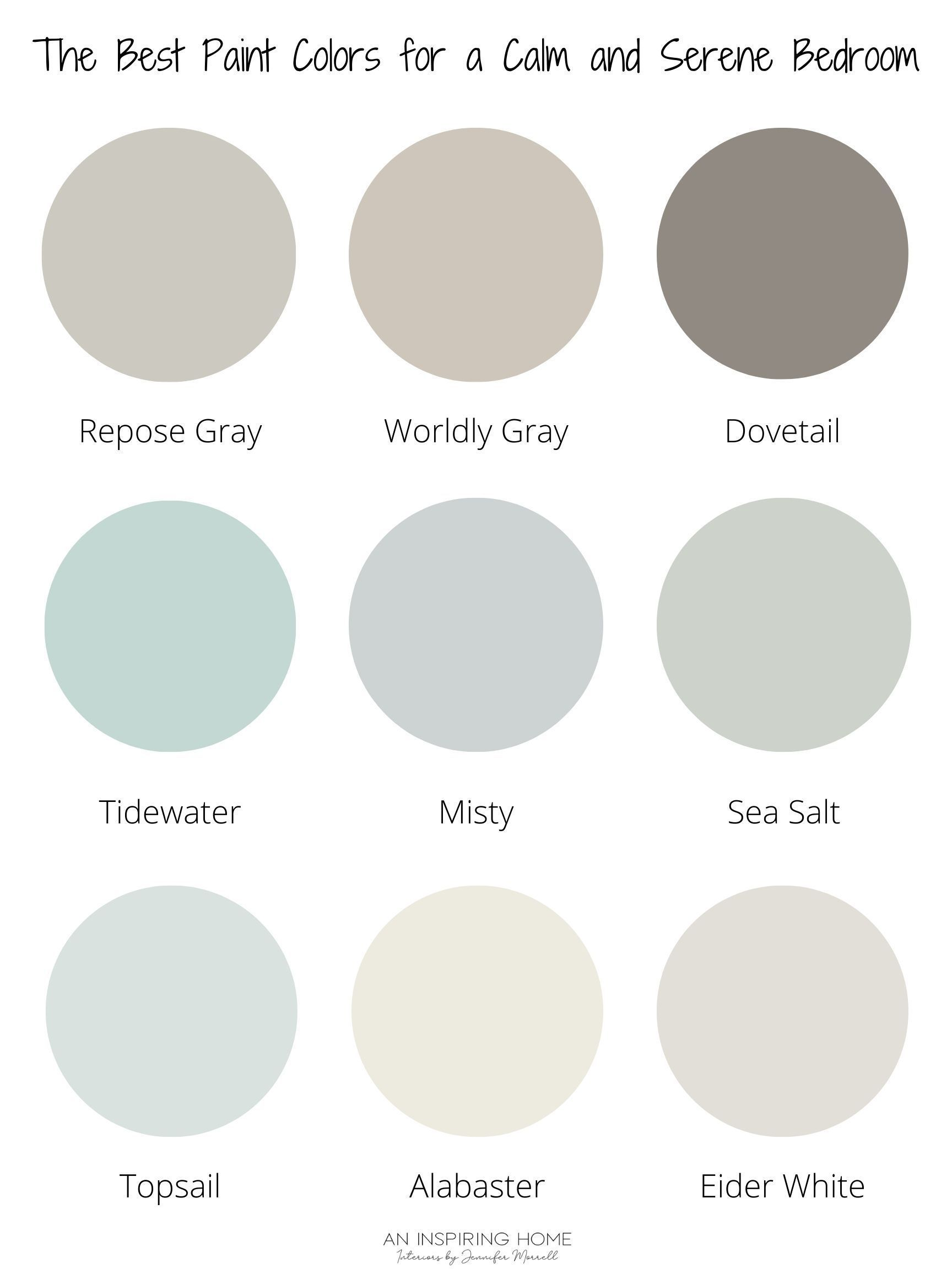 The Best Paint Colors For A Calm And Serene Bedroom Bedroom Paint Color Inspiration Best Bedroom Paint Colors Best Bedroom Colors Tranquil bedroom paint colors