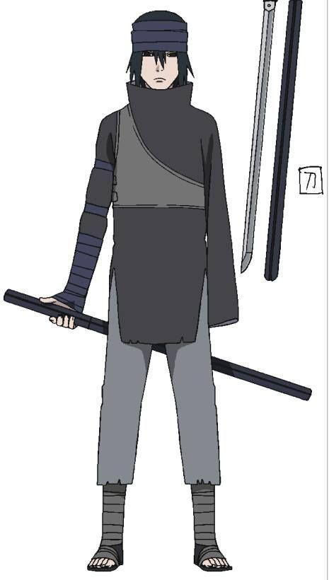 character art for sasuke uchiha from the last naruto the movie