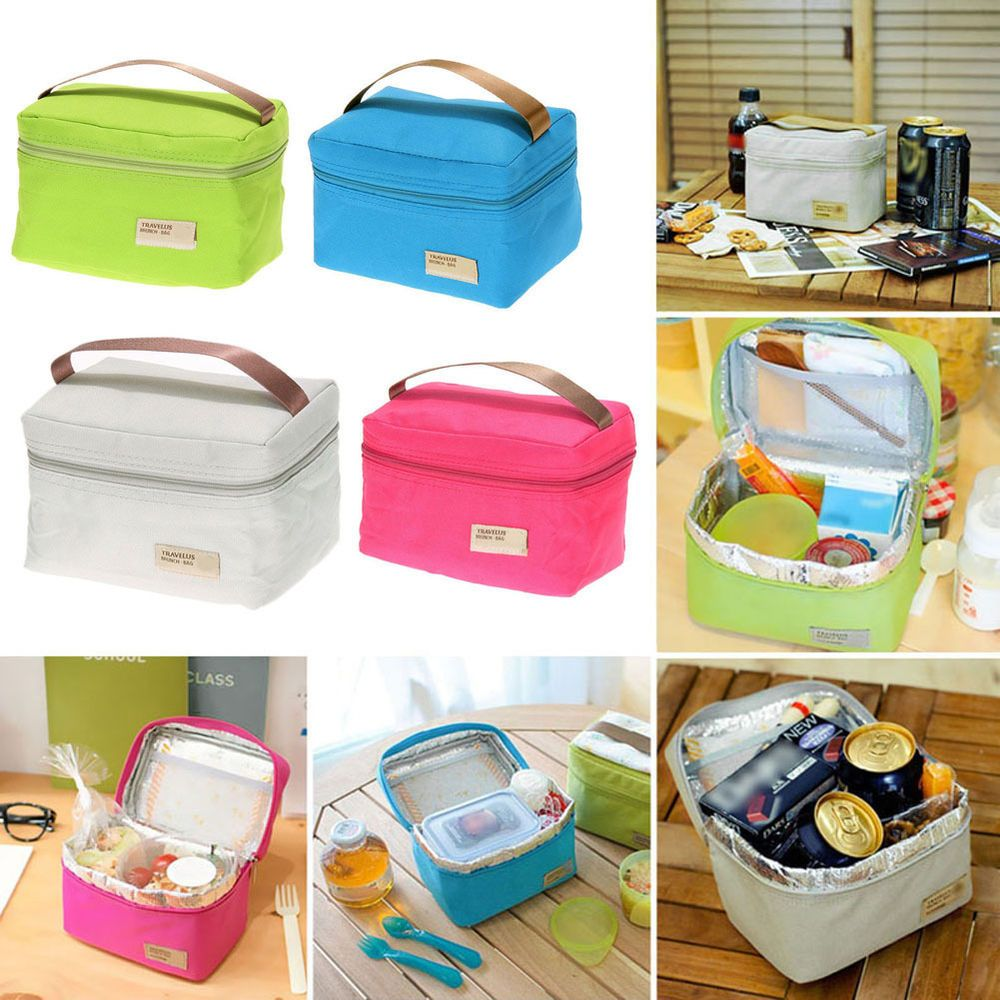 Insulated Lunch Bento Box Food Container Tote Bag for School Picnic Work Office