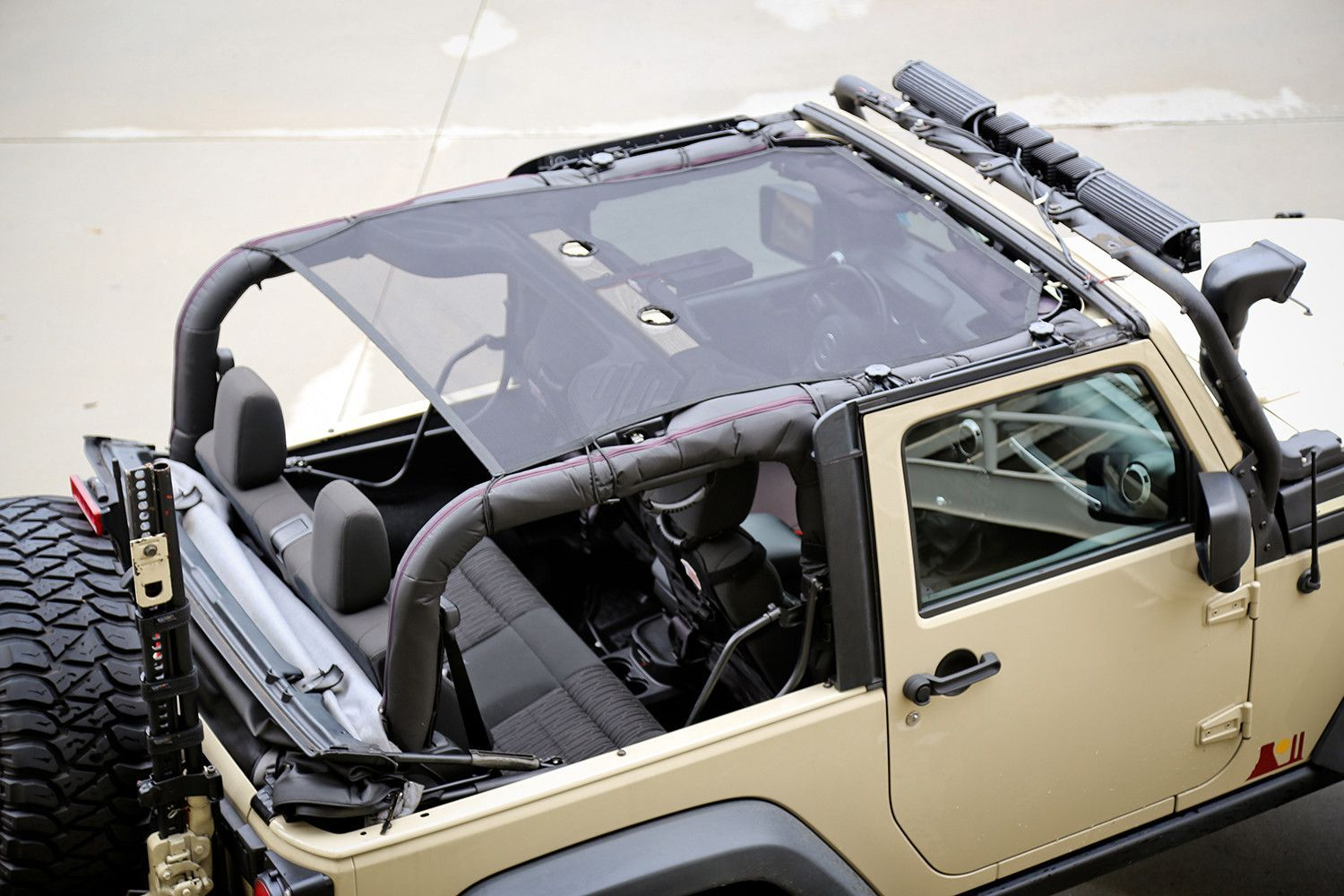 Looking For A Summer Top That Is Easy To Install And Remove The Rugged Ridge Eclipse Sunshade Gives Jeep Wrangler Jk Jeep Wrangler Accessories Four Door Jeep