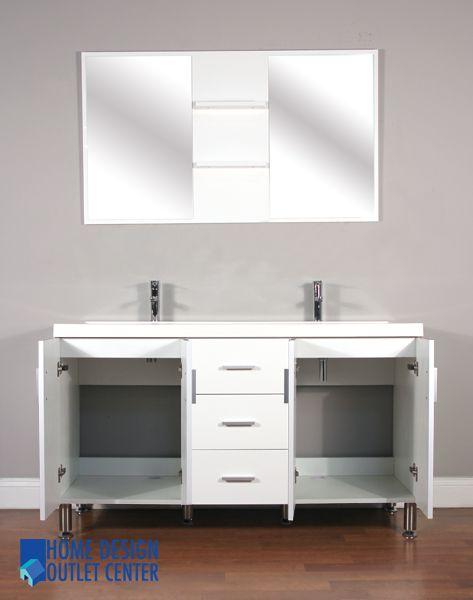 At 8043 W 56 Double Modern Bathroom Vanity Set White Home Design Outlet Center Modern Bathroom Vanity House Design Outlet Center