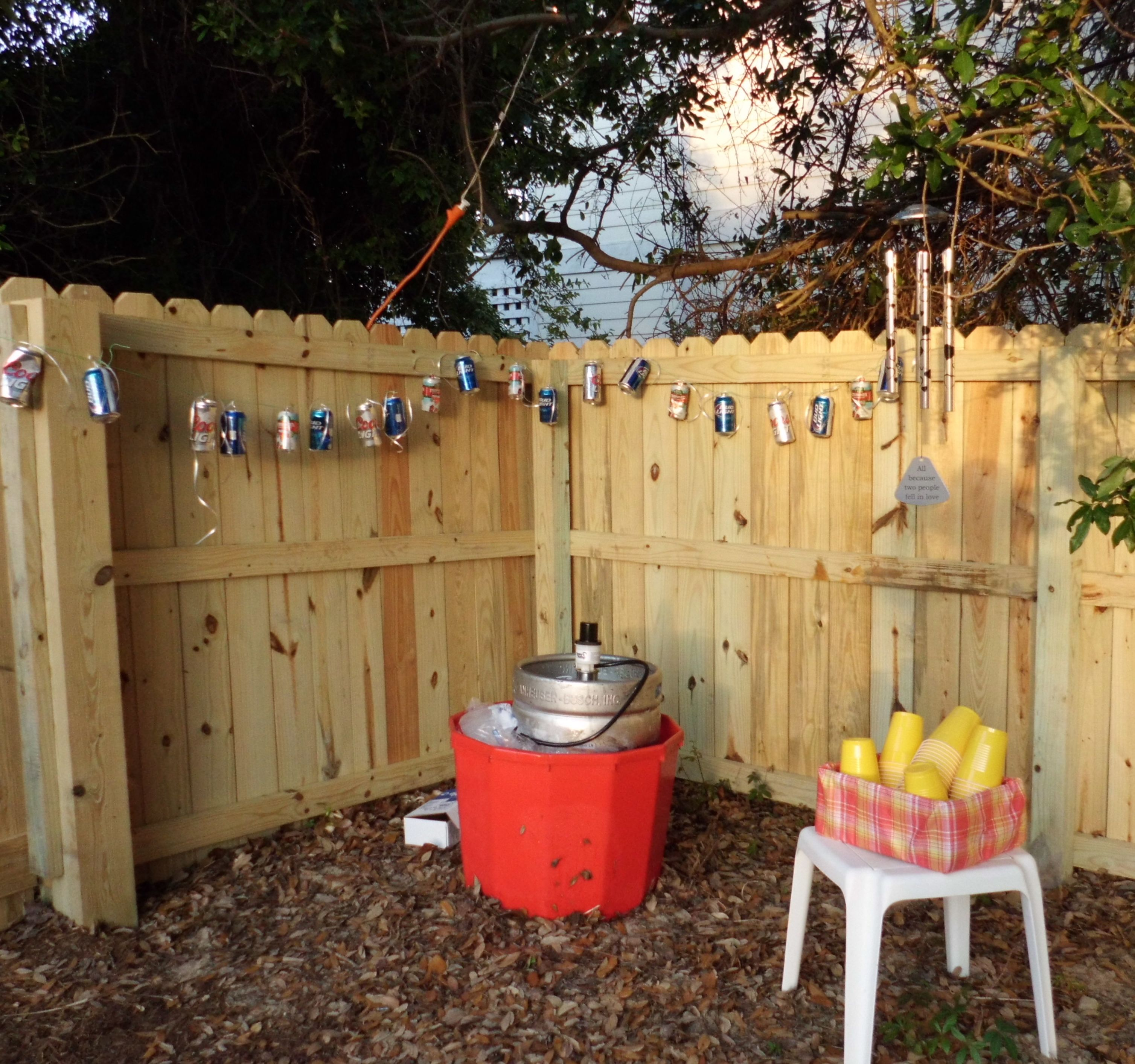 beer can garland by the keg pool decor for parties pinterest