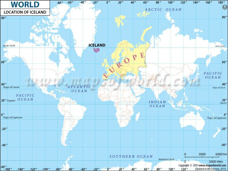 Iceland Location in World Map | world | Norway map, Map of ...