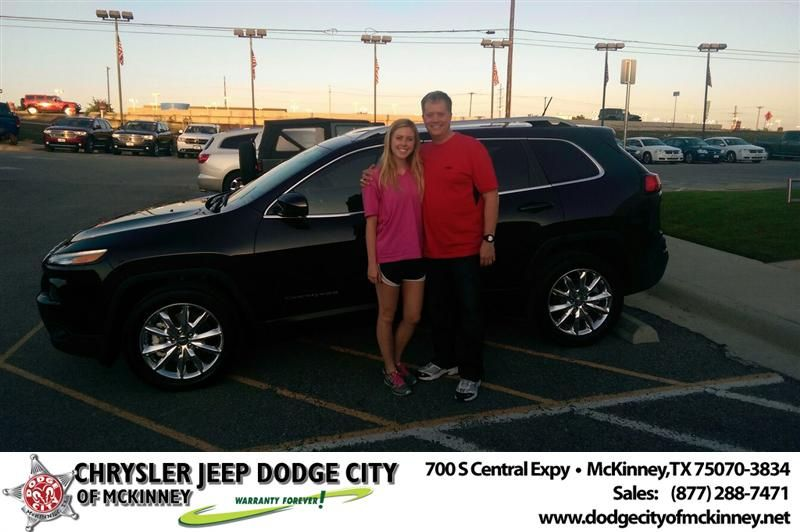 Congratulations to Brian Carlson on your #Jeep #Cherokee purchase from Brent Briggs at Dodge City of McKinney! #NewCar