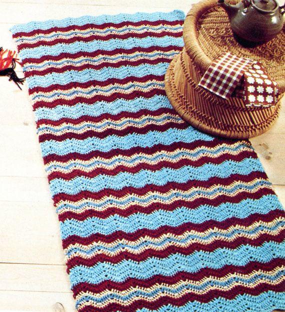 Classic Chevron Rug PATTERN, Crochet | Chevron-teppich, Teppiche und ...