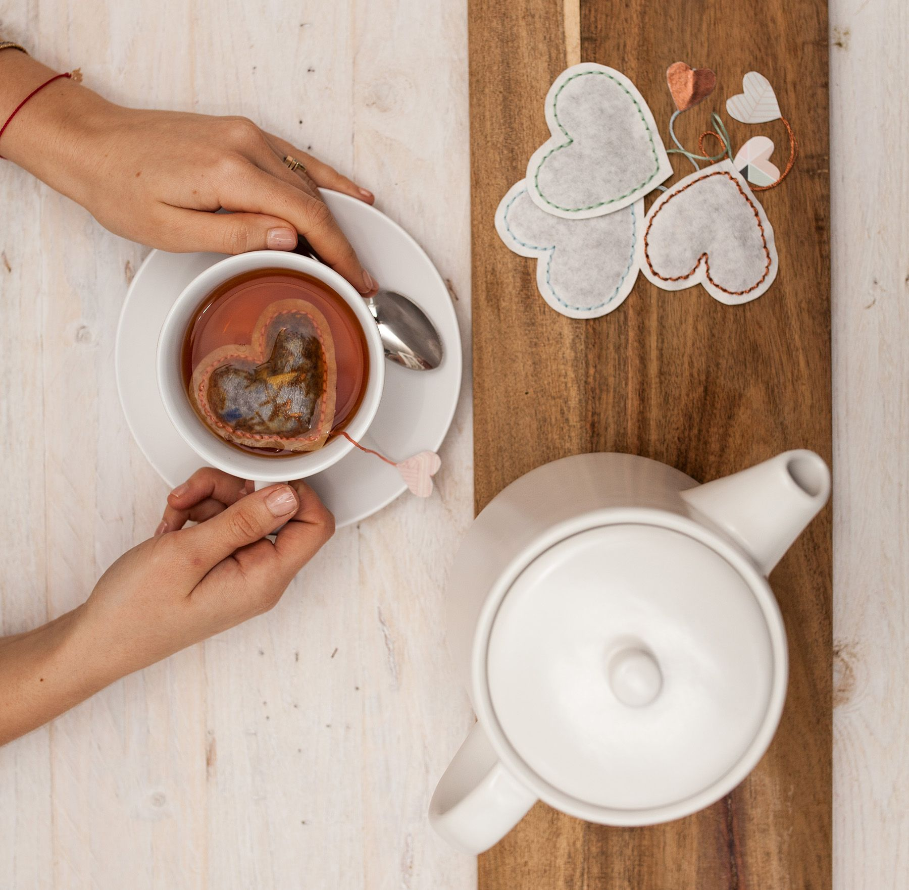 Diy tutorial valentineus heart shaped tea bags diy tutorial
