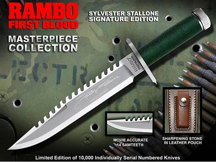Rambo Knife Masterpiece Collection First Blood Signature Edition Ships To Usa Only Rambo Knives Cuchillos Y Espadas Cuchillos Tacticos Cuchillos