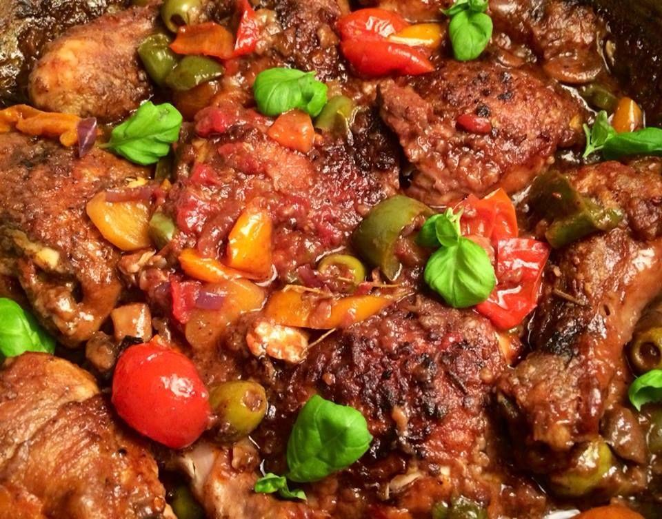 italienske retter med kylling