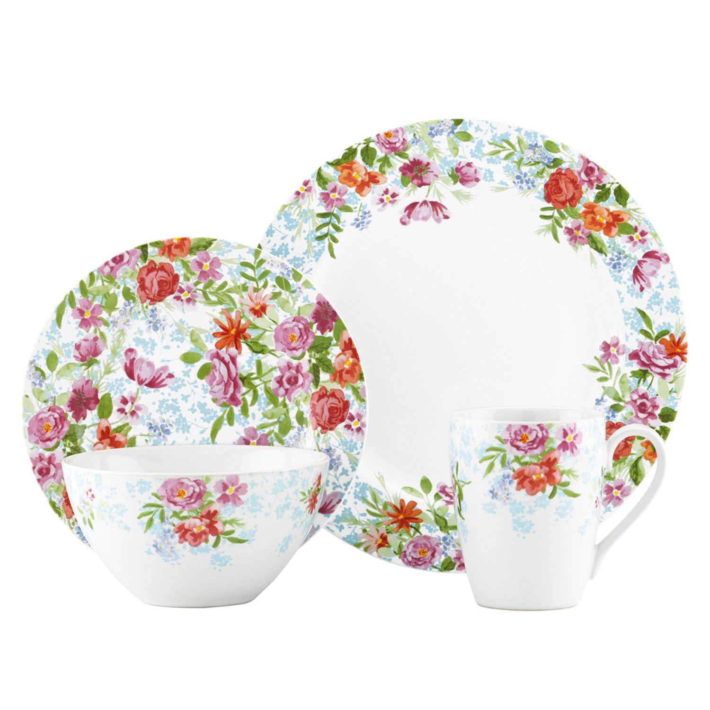 Kathy Ireland By Gorham Spring Bouquet 4 Piece Place Setting Dinnerware Set Corelle Dinnerware Set Dinnerware