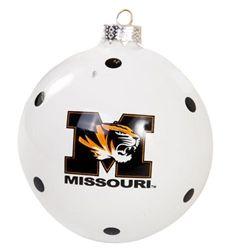 MU Bookstore - Missouri Polka Dot Ornament