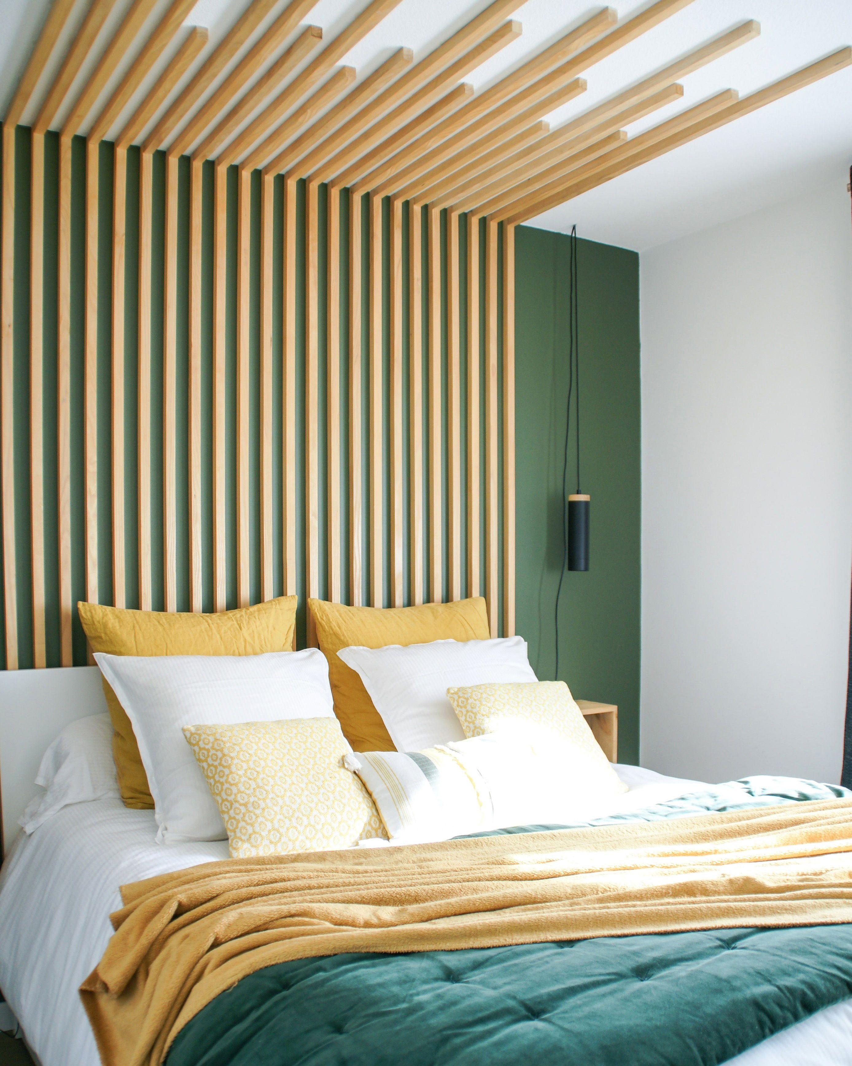 Chambre Parentale Tete De Lit Diy Tasseaux En 2020 Chambre Parentale Design Decoration Chambre Parentale Deco Chambre Parental