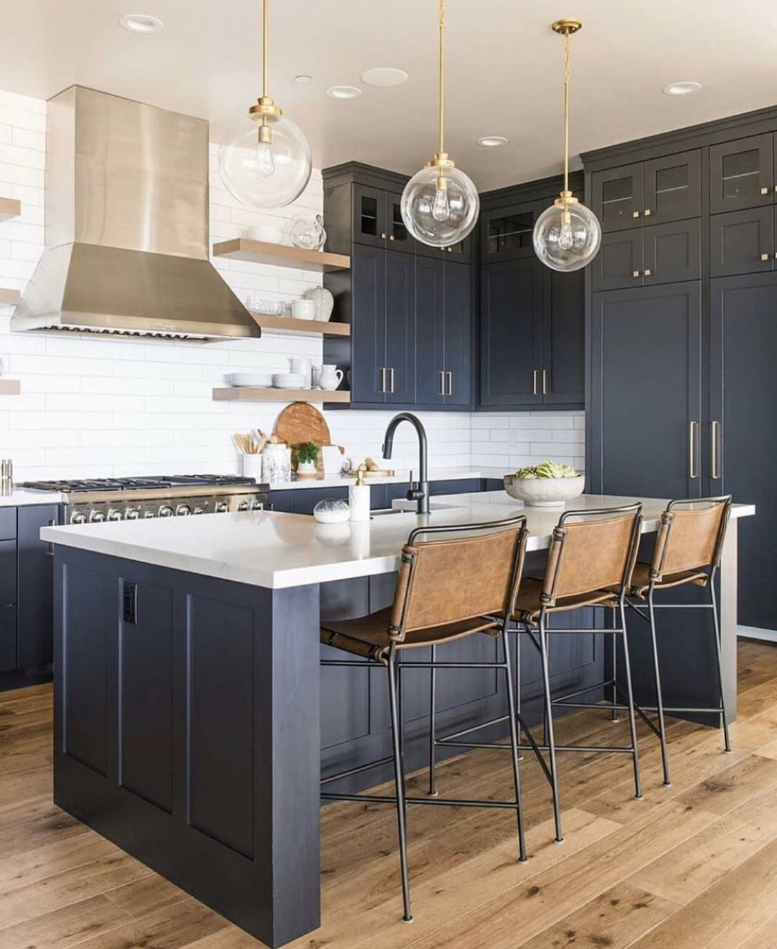 Kitchen With Navy Cabinets Rebekahwestoverphotography