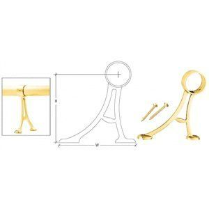 """CRL Polished Brass 1-1/2"""" Floor Mount Bracket by CR Laurence by C.R. Laurence. $22.18. Mounts to Floor Only Ready to Install Three Architectural Finishes This CRL Floor Mount Bracket for Foot Railings is available in three architectural finishes for 1-1/2 inch (38.1 millimeter) or two inch (50.8 millimeter) Tubing. Brackets are individually packed and come with two 12 x 2"""" Phillips Flat Head Wood Screws. Tubing is secured with integral set screw. NOTE: Recomme..."""