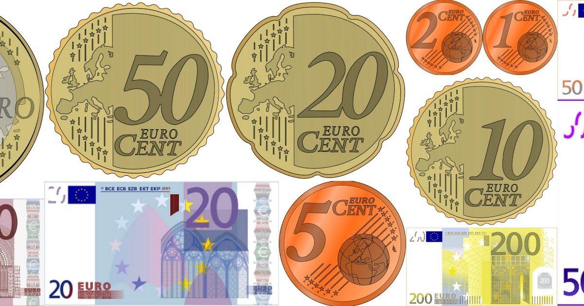 Euromünzen und -scheine | Kopiervorlagen | materialien | Pinterest ...