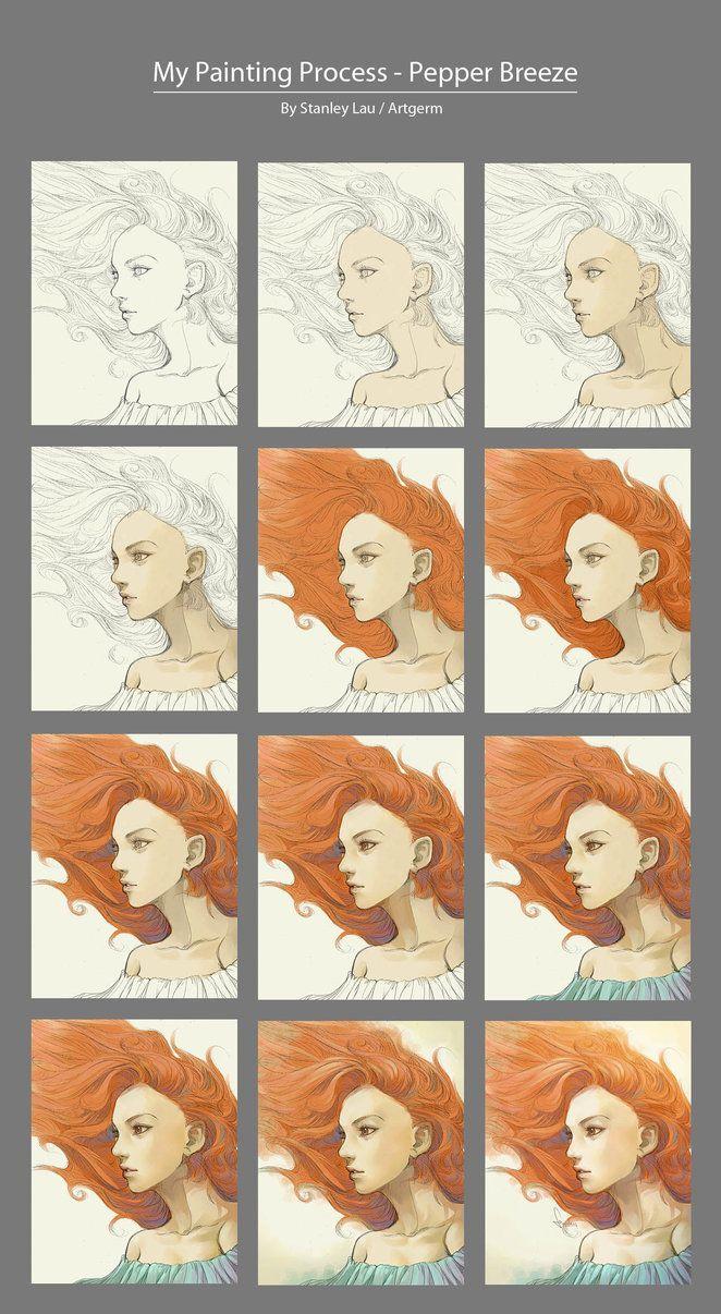 Step by Step - Stanley Lau (Artgerm)   Piirtäminen Photoshopilla ...