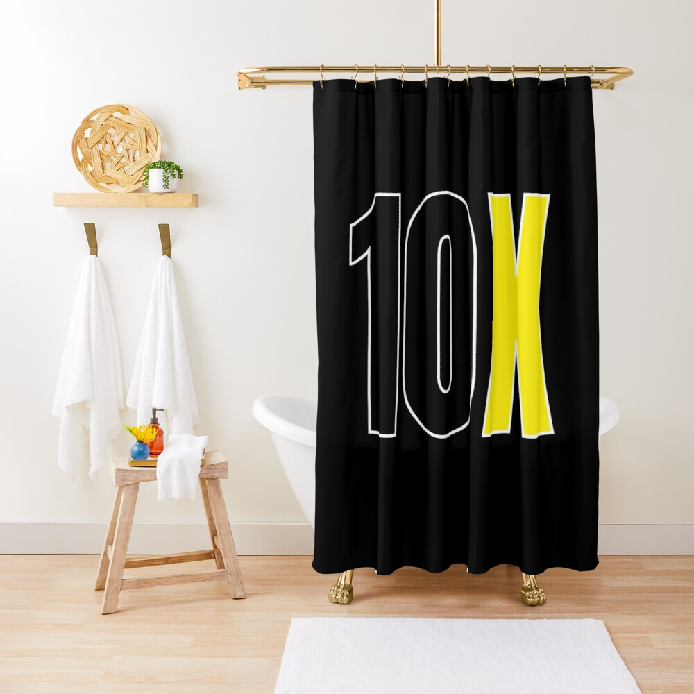 10x Black And Yellow Shower Curtain By Qcult Yellow Shower