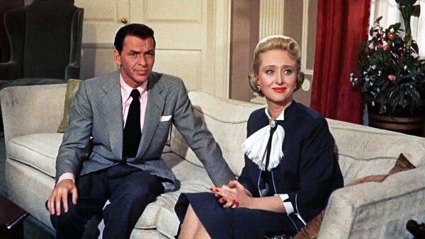 """Frank Sinatra and Celeste Holm in """"High Society"""" 1956 