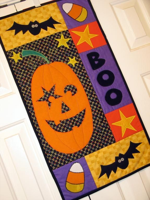Halloween Machine Appliqued Wall Quilt project on Craftsy.com