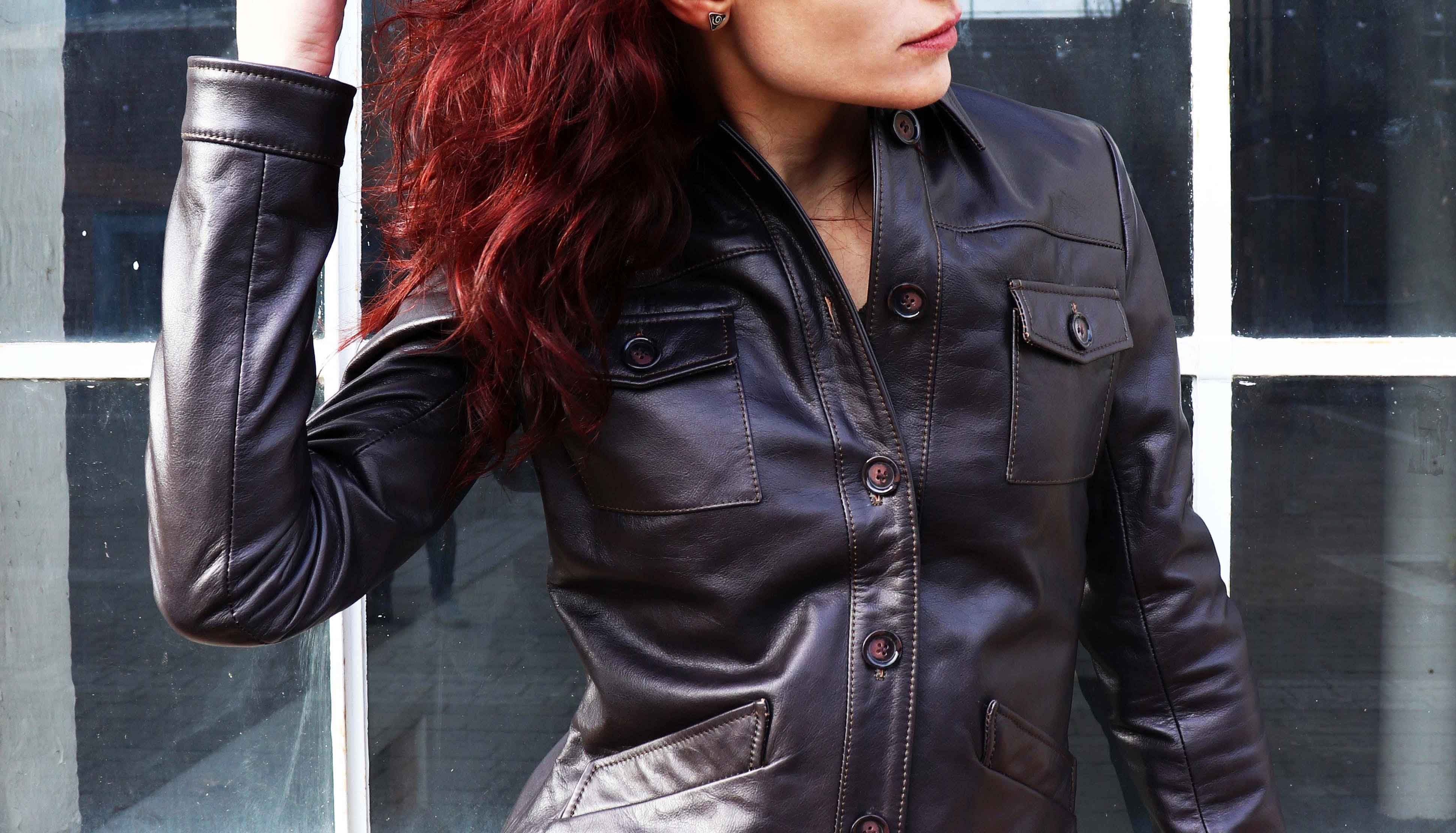 Shop This Safari Style Brown Leather Jacket For A Vintage Look Dark Brown Leather Jacket Leather Jacket Safari Style [ 2224 x 3883 Pixel ]