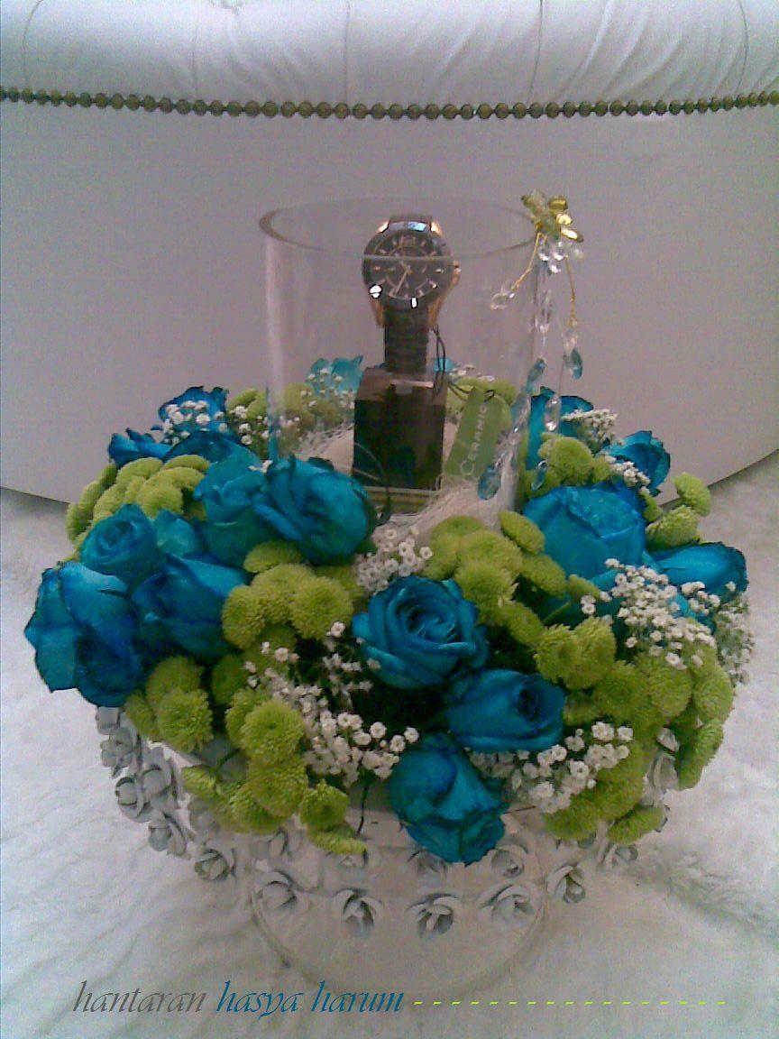 Hasya Harum Pakej Hantaran Kayangan fresh flowers bouquet arrangement wedding gubahan hantaran perkahwinan